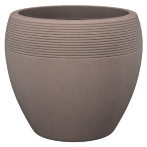 Scheurich Planter Lineo Brown Granite Effect Planter