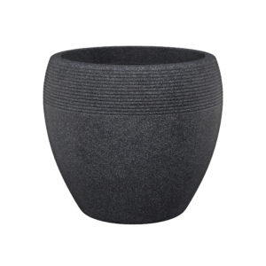 Scheurich Planter Lineo Black Granite Effect Planter